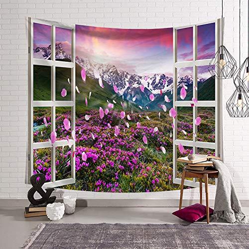 Arazzo Nordico Applique da Parete arazzo Decorazione della casa murale Finestra LS-CW0024 95x73