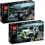 Lego Technic 2er Set 42046 42047 Fluchtfahrzeug + Polizei-Interceptor