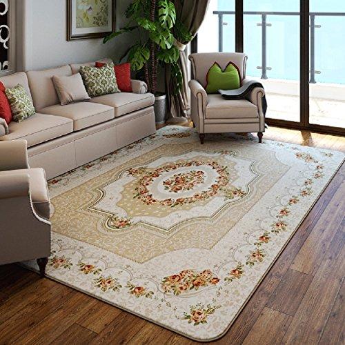 Salón máquina alfombra lavable del dormitorio antibacteriano pastoral moderna minimalista de centro rectangular mesita de noche europea