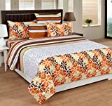 #8: Home Elite Floral Print 100% Cotton Double Bedsheet with 2 Pillow Covers (Multicolor)