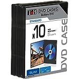 T'nB BINODVD10SL Estuche de CD y DVD - Funda (Negro, Polipropileno, 136.2 x 191.6 x 7 mm)