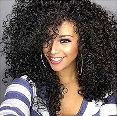 Bestland Afro Kinky Wig Cheap Synthetic Long Kinky Curly Wigs For Black Women African American Female Wig Heat Resistant Fiber Wig from Bestland