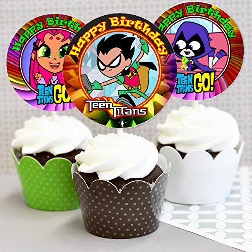 12Teen Titans Geburtstag Party Inspiriert Picks, Cupcake Picks, Cupcake Topper # 1 ()
