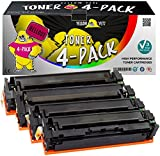 Yellow Yeti 201X 201A Pack 4 Cartouches de Toner compatibles pour HP Color Laserjet...