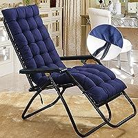 Cojín de repuesto para tumbona de jardín, patio, silla gruesa, almohadillas de relajación, azul marino