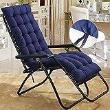 Royaliya Stuhlauflagen Liegestuhl Auflage Polster für Gartenliegen Gartenstühle Sonnenliegen Deckchair Dick Kissen Stuhlkissen 153x53x7cm (Blau)