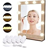 Luci di Specchio per Trucco LED Lampada da Specchio Cosmetico di Stile Hollywood Lampadine Regolabili 10 Pezzi da Bagno EVILT