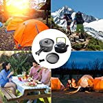 Buycitky Camping Cookware Kit,Camping Accessories Cooking,Lightweight & Nonstick Camping Kettle,Camping Pots,Camping Pans with Mesh Set Bag for Outdoor Activities,Picnic,Hiking,10-Piece Set 13