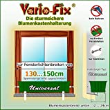 Vario-Fix Universal Haltebügel für 12cm Blumenkasten mit 150cm Spannstange (130)