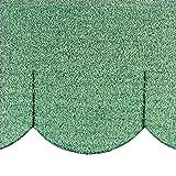 Mini - Dachschindeln Biberschwanz (100 mm) - Grün