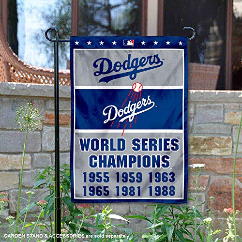 Wincraft Los Angeles Dodgers 6-Time World Series Champions doppelseitige Gartenflagge