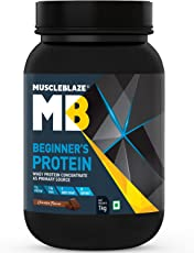 MuscleBlaze Beginner's Whey Protein Supplement (Chocolate, 1 Kg / 2.2 lb)