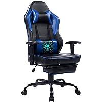 Wolmics Massage Gaming Stuhl Hohe Rückenlehne Racing PC Computer Bürostuhl Drehbarer Ergonomischer Executive Leder…
