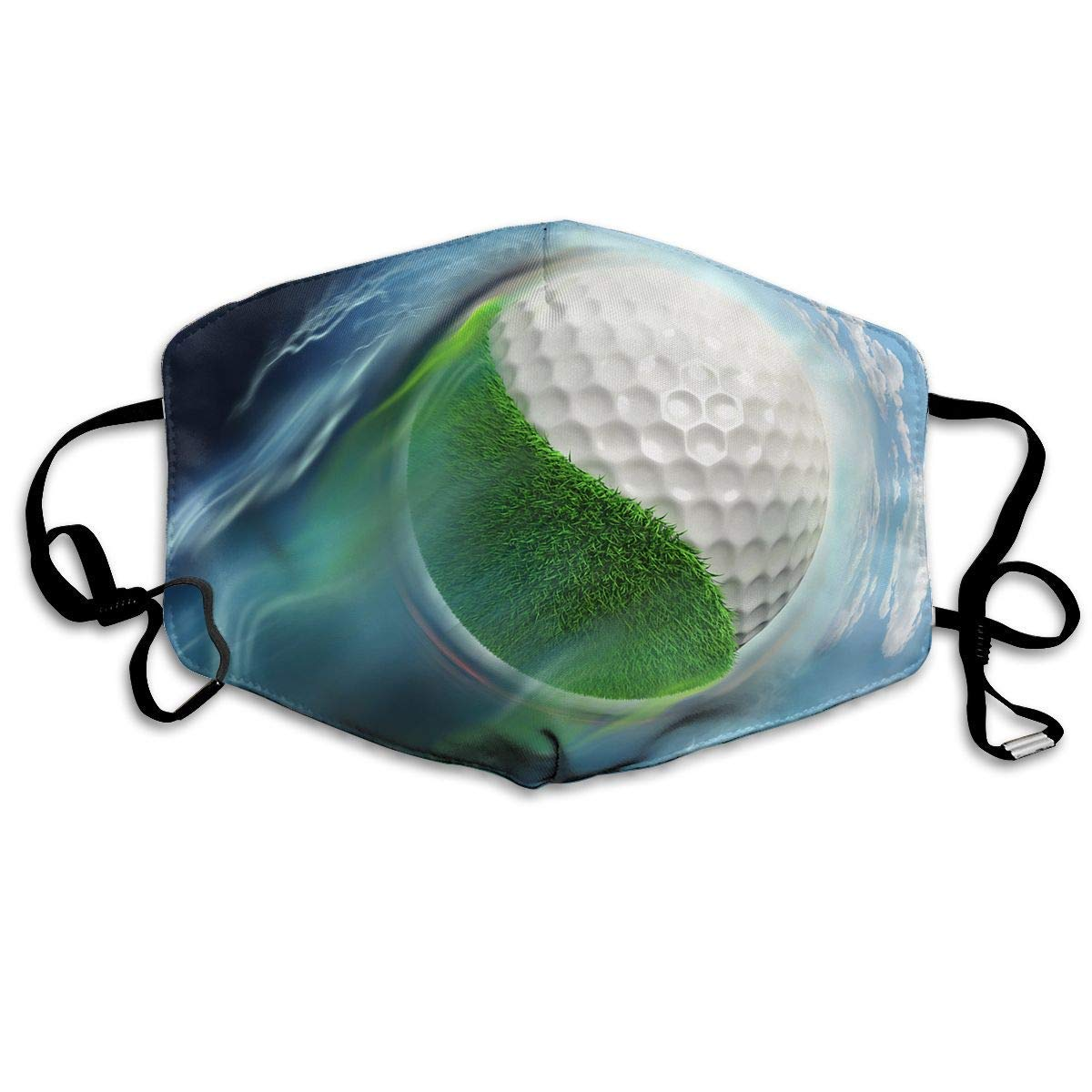 Daawqee Máscara de Boca, Antipolvo Cubierta de Boca Golf Course Print Reusable Washable Earloop Máscara de Boca for Men Women
