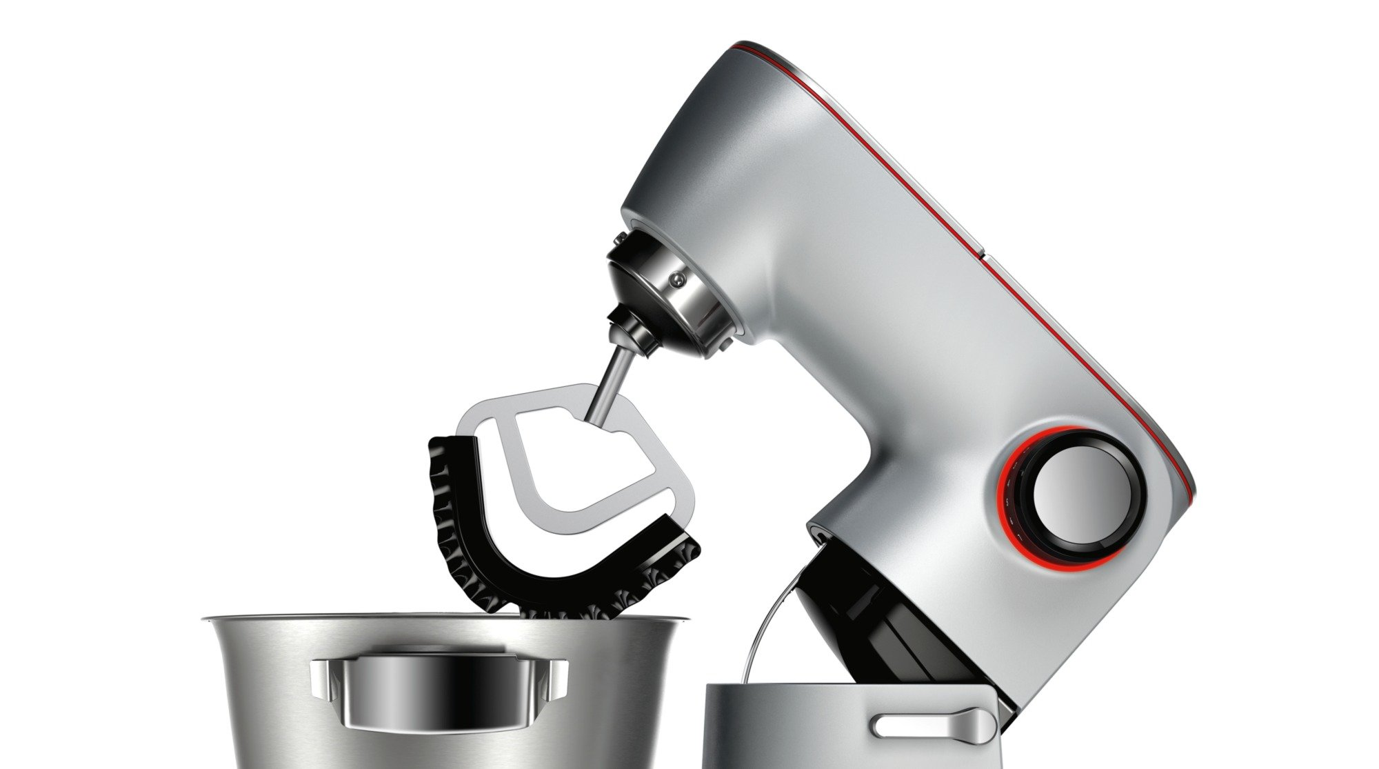 Bosch-MUM9AX5S00-Optimum-Kchenmaschine-1500-Watt-mit-integrierter-Waage-SensorControl-Plus-55-Liter-Edelstahl-Rhrschssel-platinum-silber