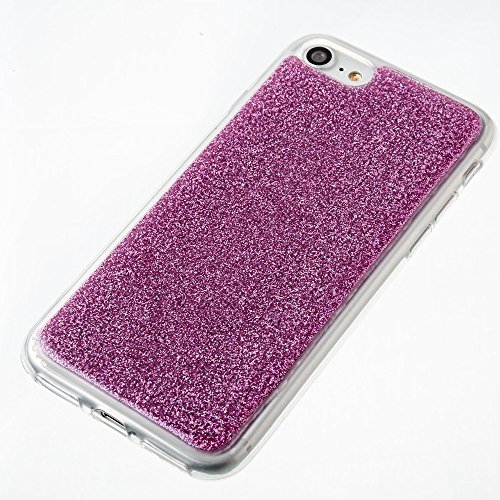 DaYiYang Soft Flexible Silicone TPU Ultra Thin Gel Cover Case Bling Glitter Couverture complète 360 