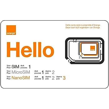 PA83® Carte SIM ORANGE prépayé sans engagement 5 euros de crédit ... db980cea6f1