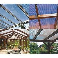 Polycarbonat Stegplatten Hohlkammerplatten X-Struktur klar light 16 mm 3500 x 980 x 16 mm