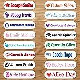 Étiquettes vêtements thermocollantes - Les uniques étiquettes autocollantes personnalisées (48 étiquettes)...
