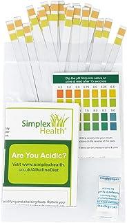 SimplexHealth PH Dual Teststreifen zum Testen Urin und Speichel (25 Streifen)