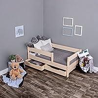 Preisvergleich für KAGU Kinderbett Jugendbett Juniorbett Bett 140 x 70 cm oder 160 x 80 cm mit Bettkasten und Matratze.