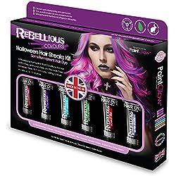 Arlequín semi-permanente color de pelo kit multicolor - Colores Rebeldes