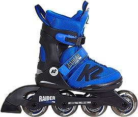 K2 Jungen Inline Skates Raider Pro Blau-Schwarz - ABEC 3 Kugellager Softboot - Größe Verstellbar - Kinder Inlineskates Anfänger