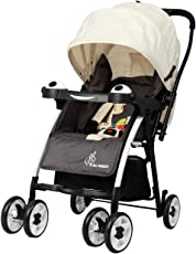 R for Rabbit Poppins (An Ideal Pram) Baby Stroller for baby/kids and Moms (Cream Brown)