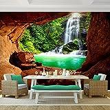 Fototapete Wasserfall 308 x 220 cm - Vliestapete - Wandtapete - Vlies Phototapete - Wand - Wandbilder XXL - !!! 100% MADE IN GERMANY !!! Runa Tapete 9071010c