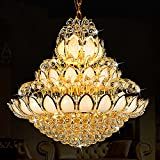 SDKKY Goldene Lotus - luxus - Villa wohnzimmer kronleuchter der Lobby der Große kronleuchter - treppe Lange kronleuchter