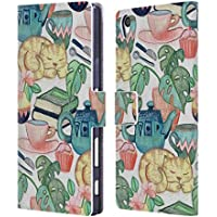 Official Micklyn Le Feuvre Lazy Afternoon A Chalk Pastel Illustration Patterns 2 Leather Book Wallet Case Cover For Sony Xperia Z5 Premium / Dual