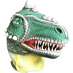 Ciao 21196,Máscara dinosaurio de látex, verde