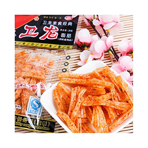 5 x 28g 140 g Chinese Snack Specialty Spicy Food Gluten latiao & # x536b