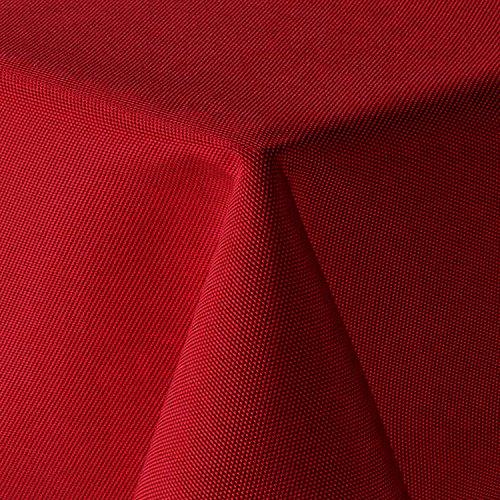 amp-artshop Tischdecke Leinen Optik Eckig 110x160 cm Rot - Farbe , Form & Größe wählbar mit Lotus Effekt - (E110x160Rot)