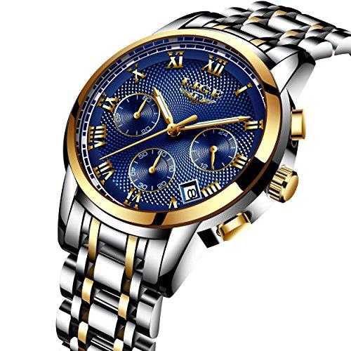 75e0c6728feb Relojes De Hombre Deportivos Clásicos Militar Especiales Marea Moda Acero  Inoxidable Plateado Lujo Negro Oro Azul