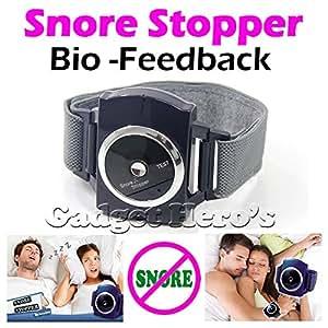 Gadget Hero's Snore Stopper Bio-Feedback IR Infra Red Sleep Apnea Wrist Band Anti Snore Device