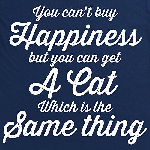 Cat Happiness Langarmshirt, Herren Dunkelblau