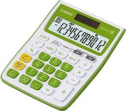 Casio MJ-12VCB-GN Desktop Calculator (White and Green)