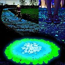 niceEshop(TM) 200 Pcs Piedras Decorativas Guijarros Brilla en la Oscuridad Pebbles Adoquines Luminoso para Decoración de Acuario Fish Tank Grava Entrada Caminos y Jardín Decoración