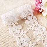 5m Vintage Lace Ribbon Trim 11cm Width Bridal Sewing Flowers Gifts invitations cards craft