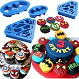 Batman Cookie cutter super eroe Superman – Set di 4 – formine per biscotti, biscotti, biscotti by Kaishan Batman Blue