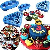Batman Cookie cutter super eroe Superman–Set di 4–formine per biscotti, biscotti, biscotti by Kaishan Batman Blue