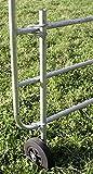 Stützrad für verstellbare Weidetore Vollgummirad Ø 200 mm feuerverzinkte Stahlteile