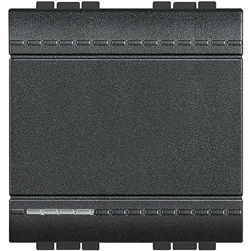 Bticino livinglight - Interruptor 1 polo 16a 2 módulos living antracita