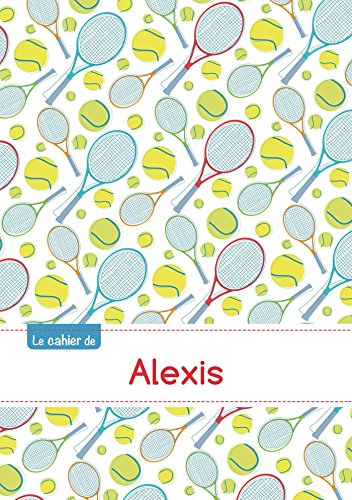 Le cahier d'Alexis - Blanc, 96p, A5 - Tennis par Collectif