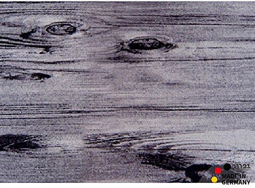 matches21 Fußmatte Fußabstreifer schmutzabsorbierend Schmutzfangmatte graue Holzdiele Holzbrett Holzoptik 50x70 cm maschinenwaschbar bei 30°C