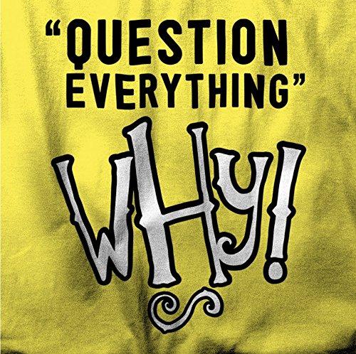 Frage Everthing. Warum! Herren T-Shirt Navy Blue