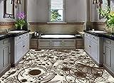 Malilove Einfache Linien Lily Flower Pattern Mode 3D-Bodenbeläge Pvc-Wallpaper 3D Stock Wallpaper 3D Für Badezimmer