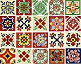Printelligent 20 Pieces Self-Adhesive Mosaic Bathroom Kitchen Waterproof Wall Tiles Stickers Decal