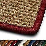 casa pura Sisal Läufer/Teppich myStyle   Kettelung in Wunschfarbe   Naturfaser   viele Größen zur Auswahl (Kettelung Rot, 66x150 cm)